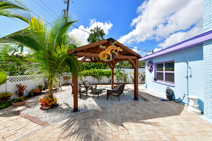 Bradenton Vacation Home Rental, Foxtail Palms Retreat Gazebo